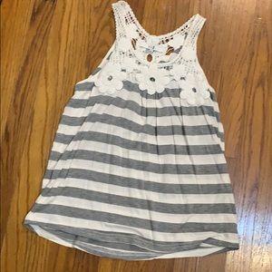 XXI tank striped grey and white